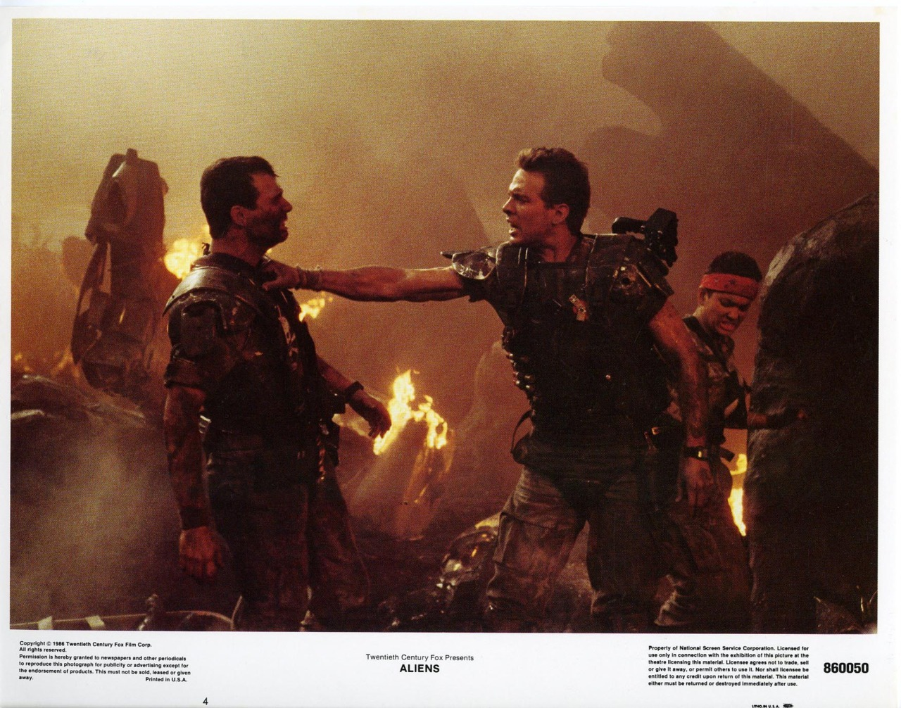 Aliens, US lobby card. 1986