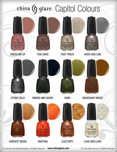 alllacqueredup:  China Glaze Capitol Colours collection bottle images. See full size pics HERE