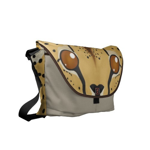 Cuddly Critters cheetah messenger bag More cheetah products | Cuddly Critters | Squiggles and Squirrels Shop