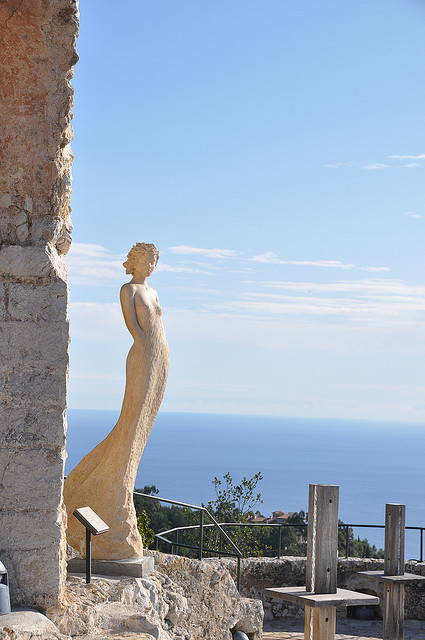 ysvoice:  | ♕ |  The statue in Èze, Provence | by © RALavash