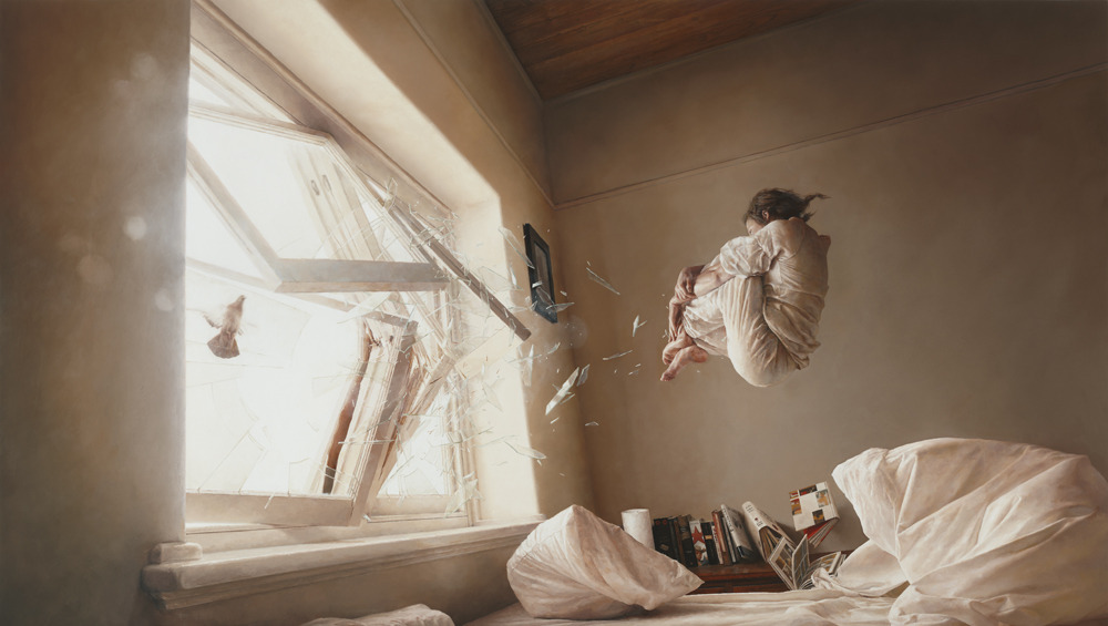 """A Perfect Vacuum"" Artist Jeremy Geddes Oil on Board  2011"