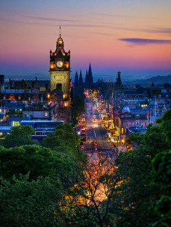 Balmoral Hotel Clock Tower, Edinburgh Princes Street by Daniel Peckham
