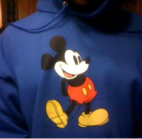 I love my Mickey Mouse sweatshirt<33