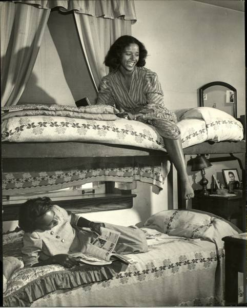 Howard University students photographed in their dorm by LIFE magazine's Alfred Eisenstaedt for a November 1946 photo essay. See other Howard students here.