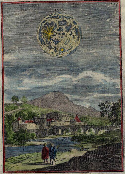 Alain Manesson Mallet, Description de L'Univers, View of the moon, 1719*, Paris 1683 + via