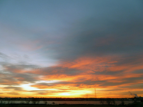 Sunrise. Detroit 2012. on Flickr.#Detroit Morning. What I see every morning going into work. #HelloWindsor