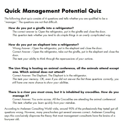 Management potential quiz.