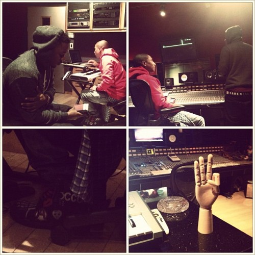 Back in the Lab with Kendrick Lamar & Pharell (Taken with instagram)
