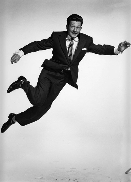 "Donald O'Connor (from ""Jumpology"")Photography by Philippe Halsman, 1952"
