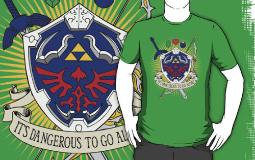 """It's dangerous to go alone!"" by D4N13L Available now on Redbubble as shirts and hoodies and iPhone/iPod cases!"