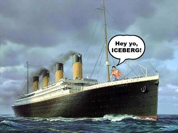 Saving the Titanic. No big deal or anything.