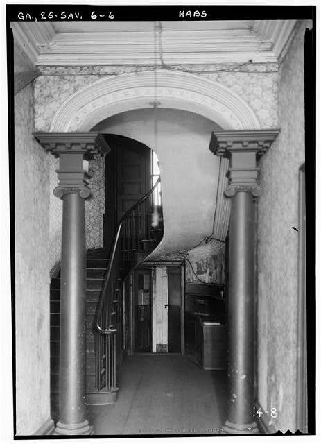 seersuckerandmagnolias:  Interior stairs of the Isaiah Davenport House, 1934.
