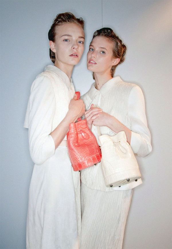 backstage at alberta ferretti, spring/summer 2010