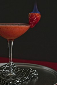 Flaming Strawberry on a Margarita from blogs.babble
