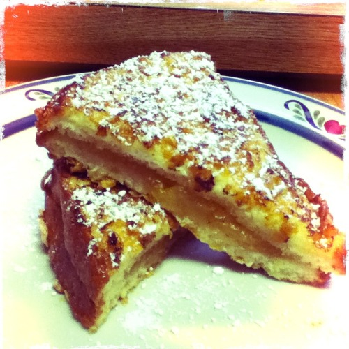 Apple Pie stuffed French Toast  Chunky Lens, Kodot XGrizzled Film, No Flash, Taken with Hipstamatic