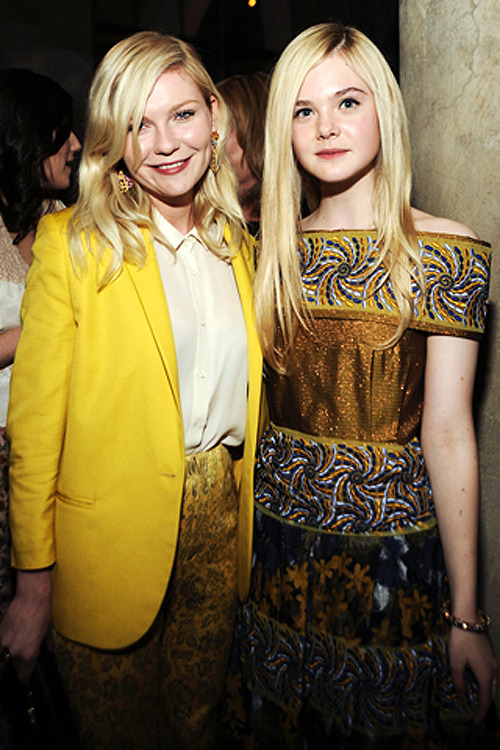 suicideblonde:  Kirsten Dunst and Elle Fanning at Van Cleef & Arpels Celebrate Rodarte at Chateau Marmont, January 17th