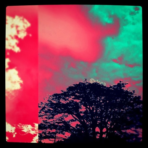 Photo editing: Red & Blue sky