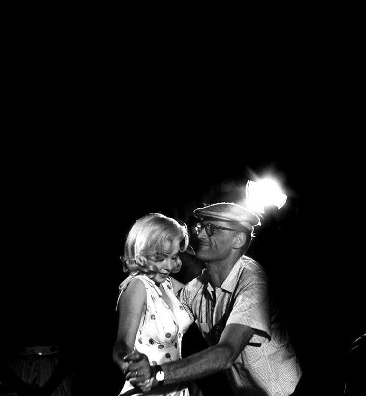 Arthur Miller and Marilyn Monroe on the set of The Misfits. Photo by Eve Arnold.
