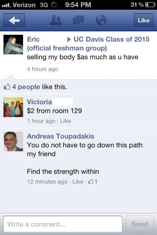 HAHAHAHA! Oh my gosh. Andreas Toupadakis is a professor at UC Davis. He really cares about his students…as you can see. lololololol