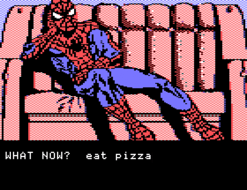 Spidey gets the munchies.