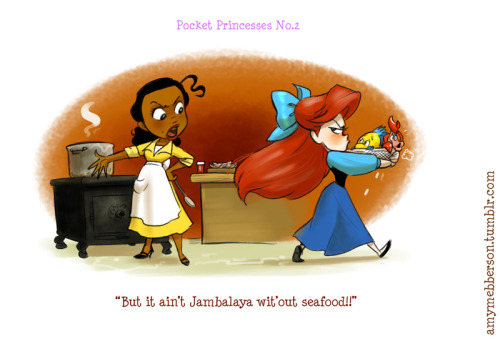 amymebberson:  Pocket Princesses #2 Starring Tiana and Ariel and nearly ex-sidekicks