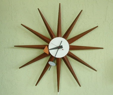 Sunburst clock by George Nelson.