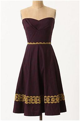 Anthropologie Aubergine Sky Dress