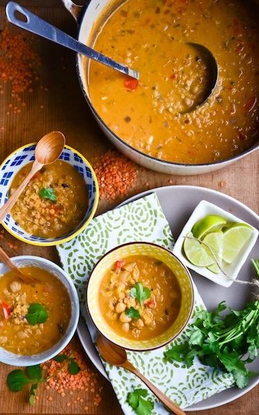 red lentil coconut soup | scaling back