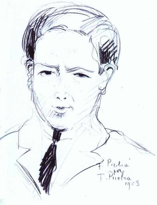 Francis Picabia - F. Picabia by F. Picabia. 1903, Pencil on paper.