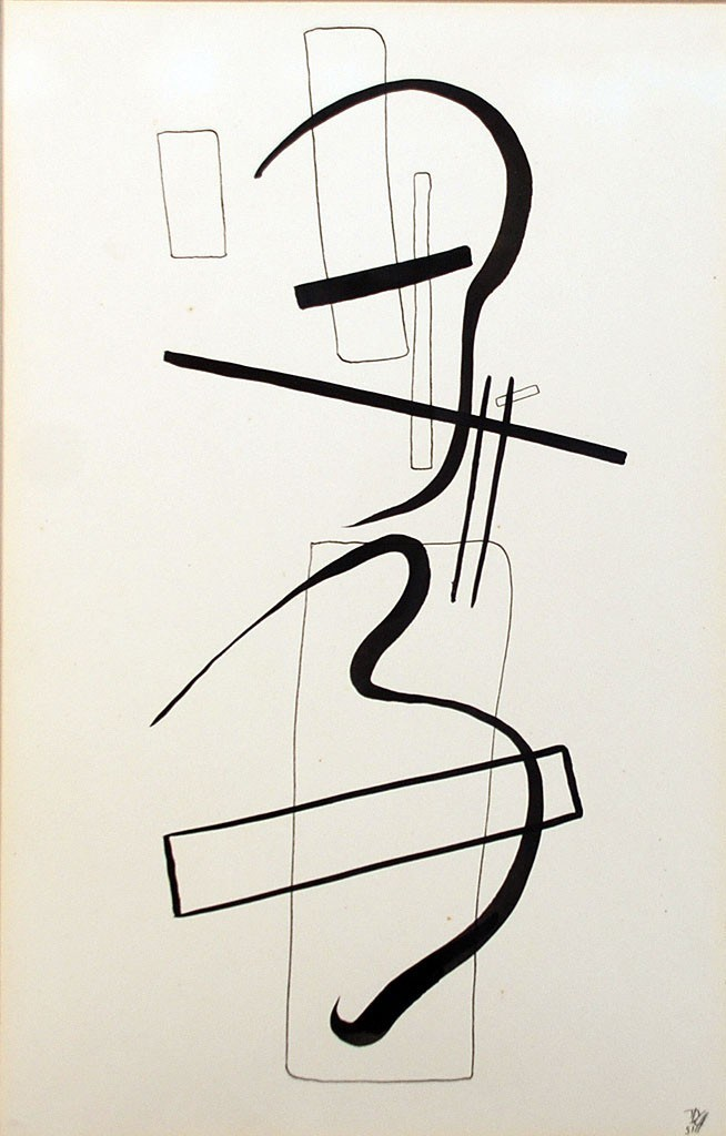 "Dwinell Grant (1912 - 1991)   Title: Kinship   Media: Ink on Paper   Size: 14"" x 11"""