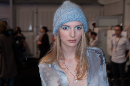 Lala Berlin backstage Berlin Fashion Week 01 2012