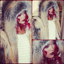#Fashion #streetstyle #style #Red #fur #Mode #moda #vogue  (Taken with instagram)