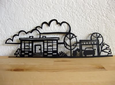icouldmakethat:  vitamini handmade: Papercut how-to. From a beginner. It never would have occurred to me to score the design into the paper, then cut it out. Brilliant!