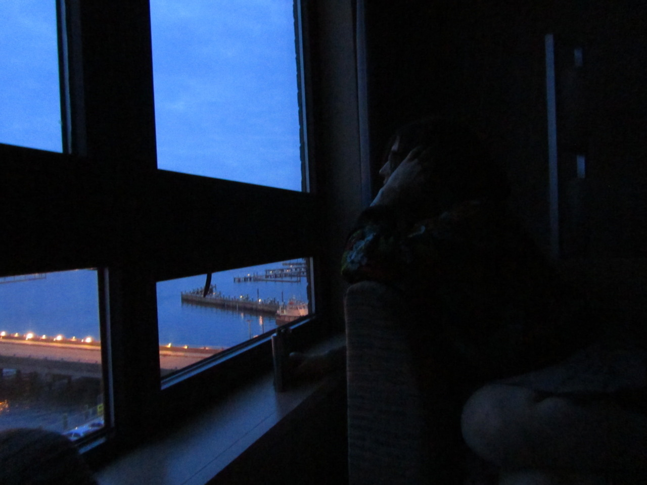 I kind of love this picture… KPA gazing out the window…