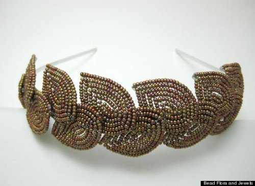 This simple yet chic beaded headband is perfect on its own or as the embellishment to fab formal style.
