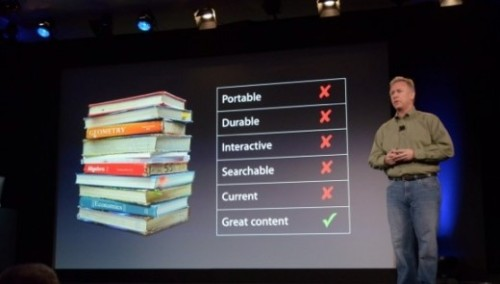 "thenextweb:  Apple has today announced iBooks 2 at an education-focused event in New York City's Guggenheim Museum. iBooks 2 was touted as a ""new textbook experience for the iPad"" by Apple's Phil Schiller. (via Apple announces iBooks 2, a new textbook experience for the iPad at Education Event in NYC - The Next Web)  PHOTO CREDIT: THE VERGE  You know what would be great? If Apple released software allowing teachers to easily make their own textbooks to put into this app. What if the teacher in this story could just make a book on their own time, with their own content? Wouldn't that just be brilliant?"