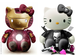Iron Man & Punisher Hello Kitty