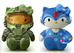 Master Chief & Mega Man Hello Kitty