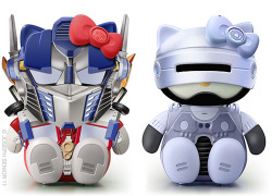 Optimus Prime & RoboCop Hello Kitty