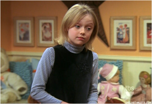 Dakota Fanning (Twilight, The Runaways, War of the Worlds, etc.) played Mackenzie, the little girl that died like 30 years ago in the house that Chandler and Monica bought in the final season of Friends.  Great find, melb4au! Follow Us On Twitter at @ISpyAFamousFace!