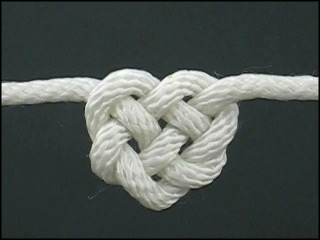 allthecrafts: How to Tie a Celtic Heart KnotLearn to tie this awesome knot, and many other ornamental knots, from Fusion Knots.  I need to work on some of these. So pretty.
