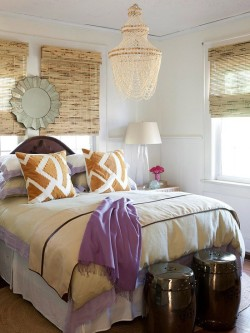 Natural neutrals…marry bold color. In a bedroom. YES! #HomeDecor