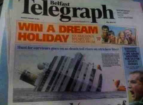 Perfectly laid out Belfast telegraph… Couldn't get it more wrong if they tried.