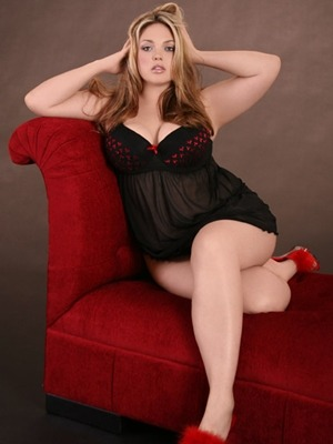 Babydoll with Red Heart Molded Cups, Hips and Curves,    $ 34.95, 1X - 4X.  Valentines Day is coming up ;)