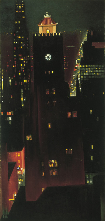 yama-bato:  Georgia O'Keeffe via    Georgia O'Keeffe New York Night