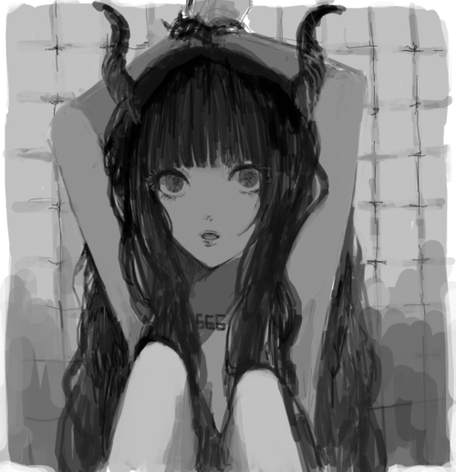 leilockheart:   more photos like this one   Really good portrait of Hell Girl. love the headless body ;)