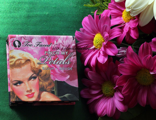 (via lovelyritablog.com) Too Faced, Pinch my Petals blush