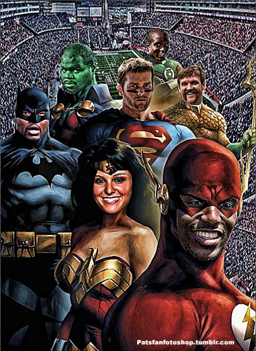 This Patriots Justice League was done on request, thought I would share. Patriots Captains including Patriots Cheerleader Brittney-Lynne.