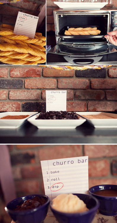 Make your own churro bar…