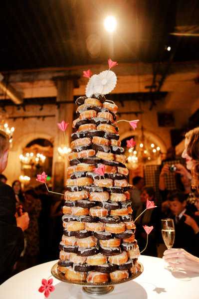 Doughnut wedding cake…